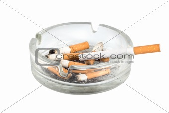 Ashtray and cigarettes close-up