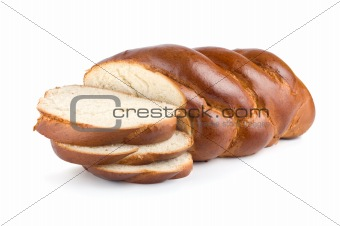 Chunks of sweet bread isolated