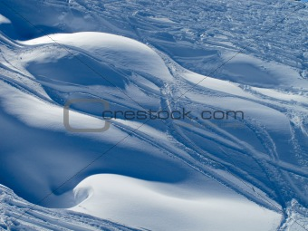 Powder snow and ski trails