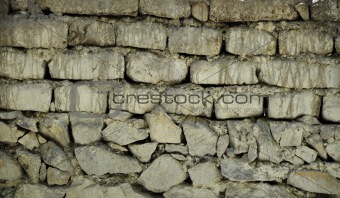 Old Mud Brick and Stone Wall
