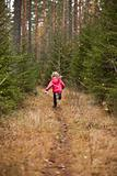 Little Girl running