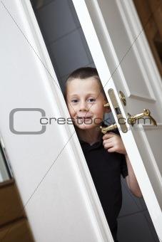 Little Boy by the door