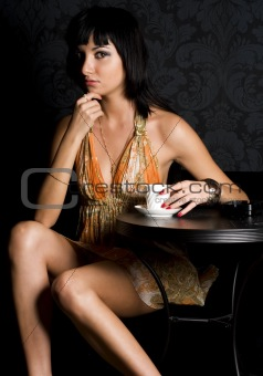 Young woman in the cafe