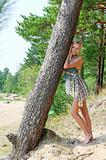 Woman at the tree