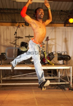 Freestyle hip-hop dancer