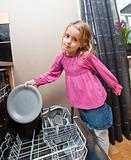 Young Girl by the Dishwasher