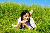 In a rye field