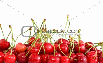 Pile of red cherries