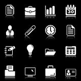 Office and business icons - black series