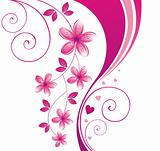 Pink flower. Floral background