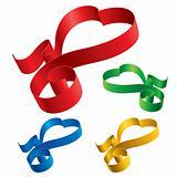 Simple ribbons hearts
