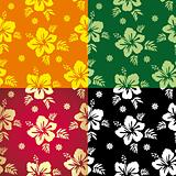 Hibiscus. Floral background. Seamless Fabric.