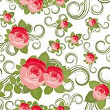 Floral Rose pattern, vector illustration.