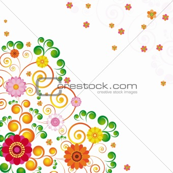 Abstract flowers background with place for your text. eps10.