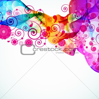 Abstract colorful floral background. Vector.