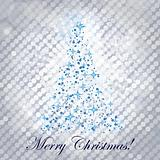 shiny christmas tree - vector illustration