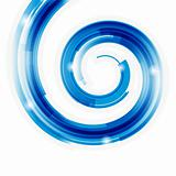 Abstract technology spiral with bokeh vector background. Eps 10