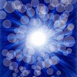 Blue luminous background - vector illustration