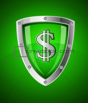 security shield as symbol of financial safety
