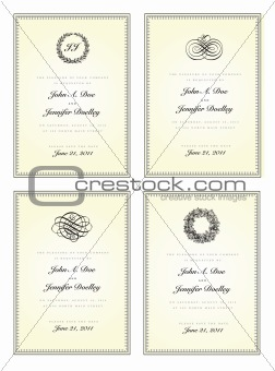 Vector Frame with Ornaments Set