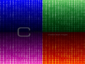four backgrounds with squares