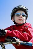 Boy on bicycle