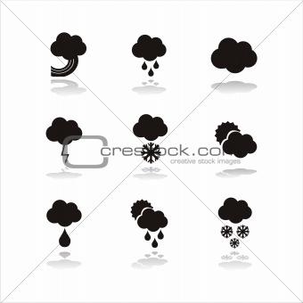 black finance icons