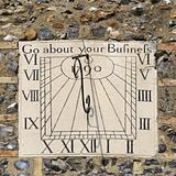 Sundial on the church