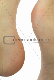 Abstract shape formed by human feet
