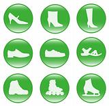 Foot-wear - vector web icons