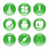 Nursery supplies - vector web icons