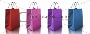 four color Crumpled peper bag