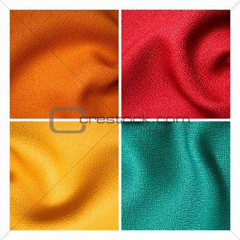 four fabric sample