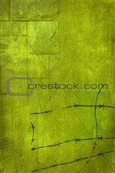 Background green wire