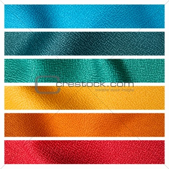 six color fabric texture sample