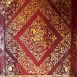 Thai traditional gold art painting