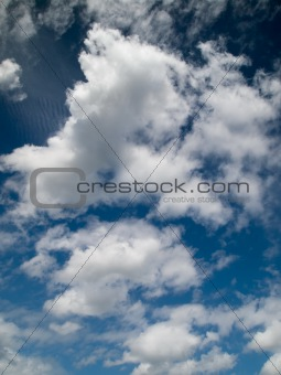 abstract of blue sky