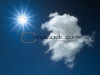 sky cloud and sun light