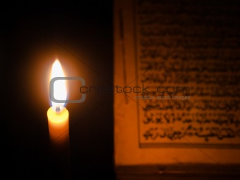 Candel light and Al-Quran