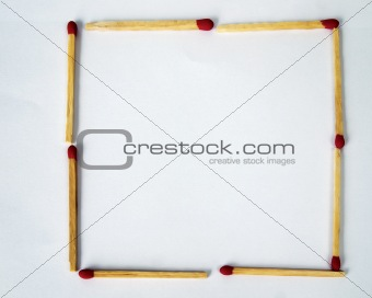 match on white paper background