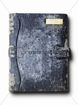 old grunge leather binder