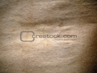 old crumpled brown paper