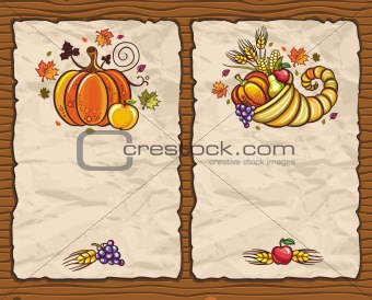Thanksgiving antique paper backgrounds
