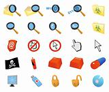 Computer security - set of vector icons