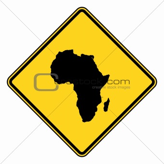Africa road sign