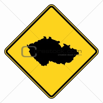 Czech Republic road sign