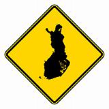 Finland road sign