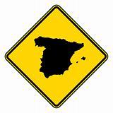 Spain road sign