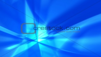 Blue rays - abstract background