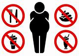 No fat eating signs